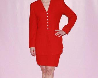 Red Wool Vintage Suit