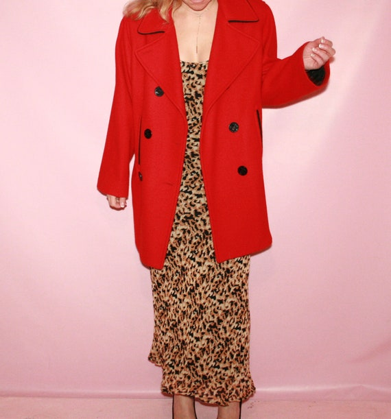 Candy Red Sailor Coat