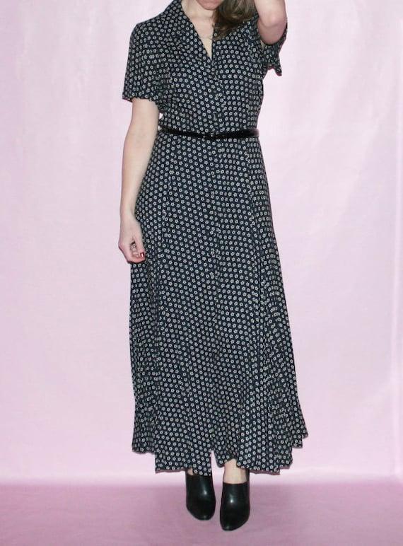 Grunge Floral Maxi Dress
