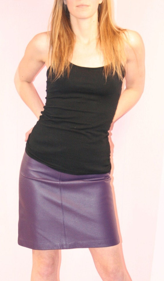 Leather Skirt/ Pencil Skirt/ Small