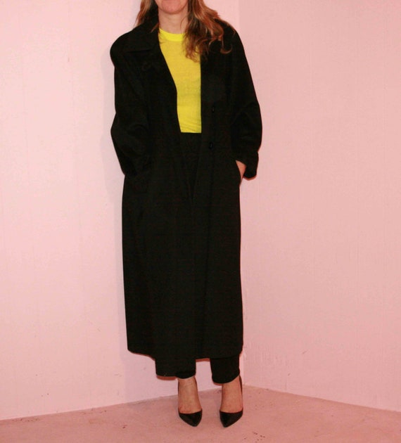 Black Wool Maxi Coat