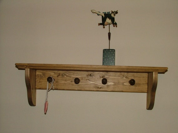 Coat Rack Wall Mounted Shelf Shaker Peg Wall Shelf Country