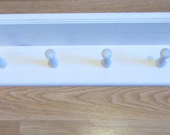 Coat Rack Wall Mounted Shelf  Shaker Shelf with 4 Pegs