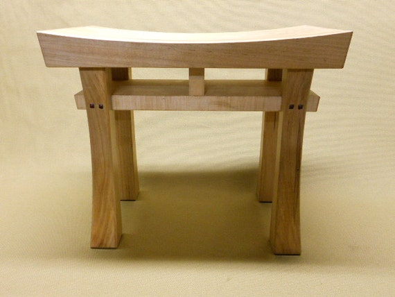Cool Asian Style Stool Bench Seat Made To Order Maple Oak Cherry Walnut Or Mahogany Size Small Beatyapartments Chair Design Images Beatyapartmentscom