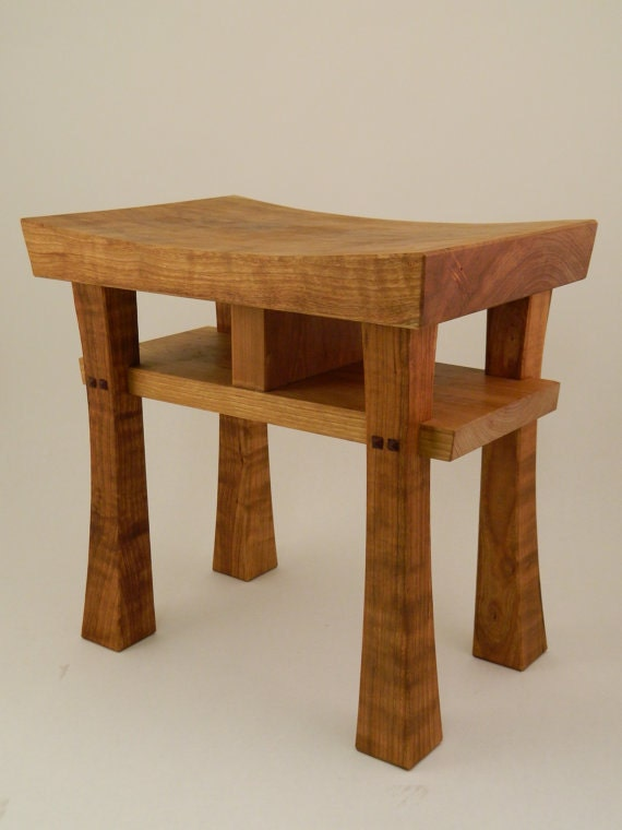 Strange Asian Style Stool Bench Size Small Made To Order Maple Oak Cherry Walnut Or Mahogany Beatyapartments Chair Design Images Beatyapartmentscom