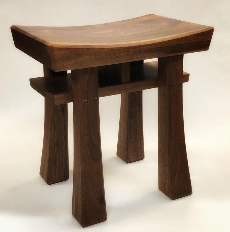 Enjoyable Asian Style Stool Bench Seat Made To Order Maple Oak Cherry Walnut Or Mahogany Size Small Beatyapartments Chair Design Images Beatyapartmentscom