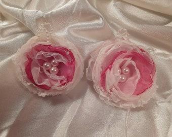Children's  Pretty in Pink double barrettes