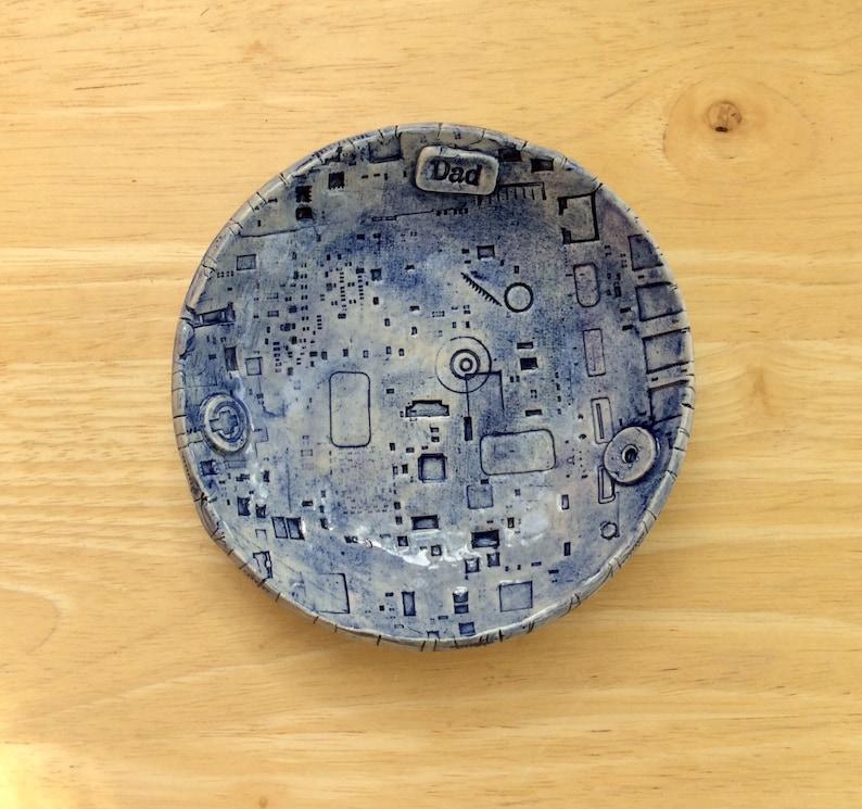 Cyberpunk ceramic trinket dish for Dad  Ceramic bowl with image 1