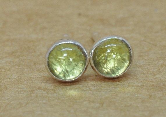 133547ffd Green Peridot Earrings Sterling Silver Studs. August | Etsy