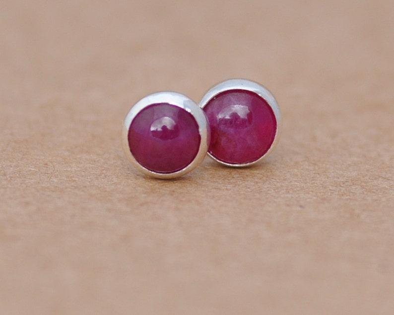590da5453 Ruby Earrings Genuine Ruby jewelry 40th wedding anniversary | Etsy