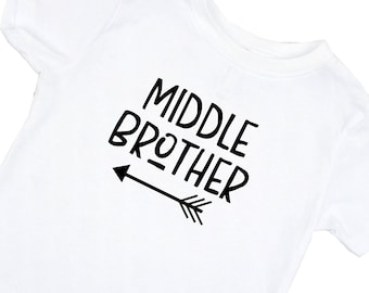 Middle Brother Shirt - Pregnancy Announcement - Toddler t-shirt - T-shirt for Boys - Middle Brother Outfit - Middle Brother T-Shirt