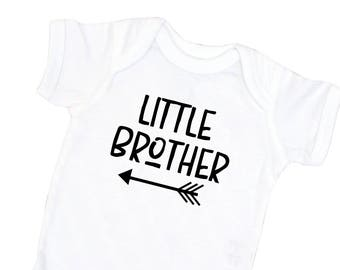 Little Brother Shirt- Brother Coming Home Outfit - Little Brother Photo Prop - Little Brother Outfit for Newborn - Baby Brother Outfit