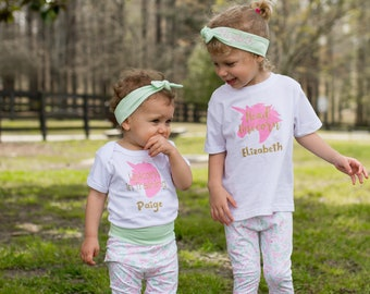 Big Sister Shirt - Big Sister Little Sister Outfit - Sisters Shirts - Unicorn Outfit for Girls - Sister Gift - Sister Coordinating Outfit