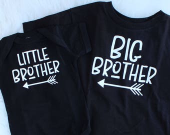 Brother Shirts - Brother Outfits for Pictures - Big Brother Announcement Shirt - Big Brother Shirt - Little Brother Shirt - Brothers Gift