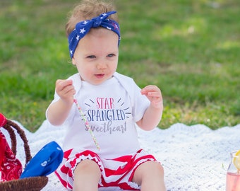 Memorial Day Outfit Toddler - Girl Fourth of July Outfit - Babys First 4th of July - Fourth of July Baby Girl - 4th of July Baby Girl
