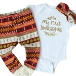 My First Thanksgiving Outfit for Girl - Baby Girl Thanksgiving Outfit - Thanksgiving Outfit for Baby Girl - Fall Outfit for Girl - Baby Girl