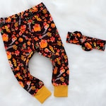 Thanksgiving Outfit - Coming Home Outfit Baby Girl - Baby Leggings - Newborn Photo Prop - Pumpkin Leggings