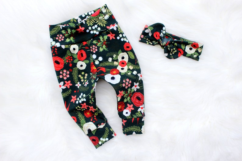 Baby Girl Christmas Outfit  Christmas Leggings  December image 0