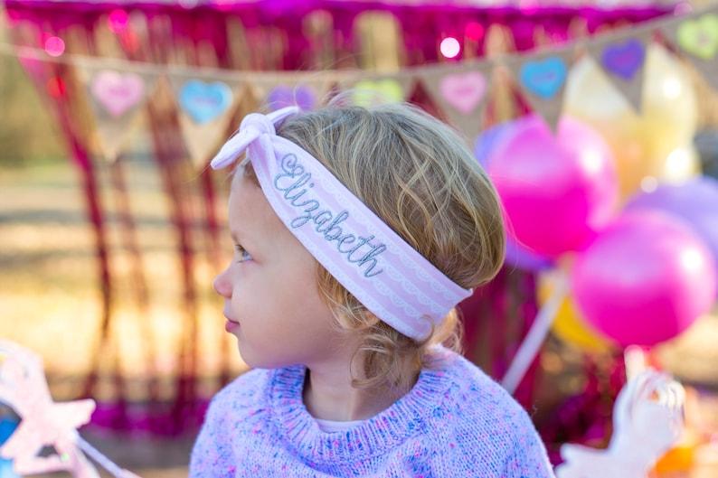 Personalized Toddler Headband   Name headband set  Name image 0