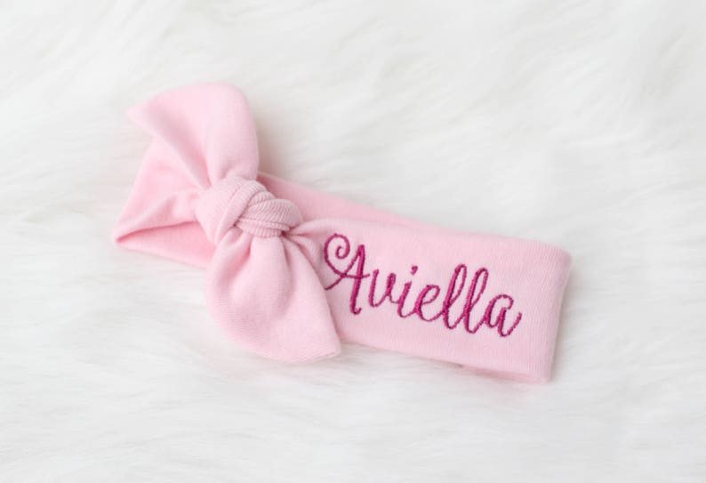 Personalized Baby Headband  Personalized Headband for Girls  image 0