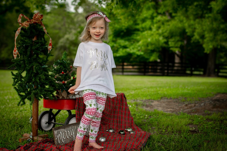 Christmas Outfit Toddler Girl  Red Green Christmas Outfit  image 0