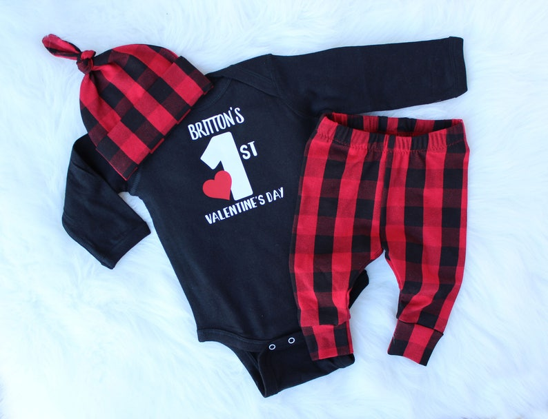 Valentines Outfit Baby Boy  Baby Boy Valentines Day Outfit  image 0