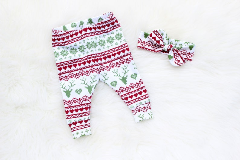 Baby Girl Christmas Outfit  First Christmas Baby Girl Outfit image 0