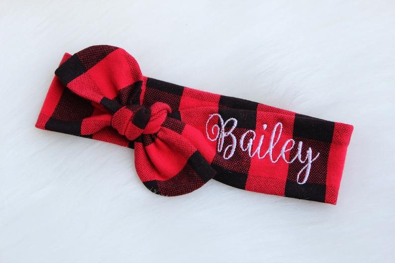 Baby Headband  Personalized Baby  Stocking Stuffer for Girl image 0