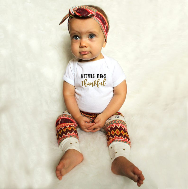 1st Thanksgiving Outfit  Thanksgiving Outfit for Baby Girl  image 0