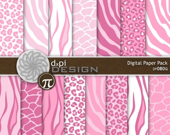 Pink Animal Print Digital Paper & Printable Backgrounds | EtsyLight Pink Cheetah Print Background