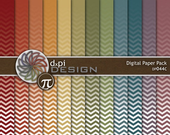 Earthtone Ombre Chevron Digital Paper Background Images Etsy