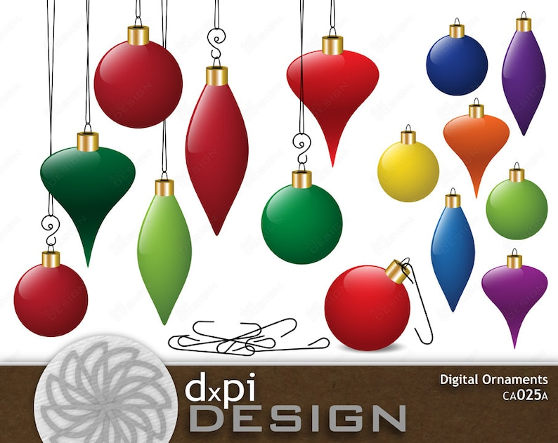 photo relating to Christmas Ornaments Printable referred to as Electronic Xmas Ornaments - Printable Trip Clip Artwork Ornaments - Dazzling Principal Rainbow Electronic Baubles - Instantaneous Down load (CA025A)