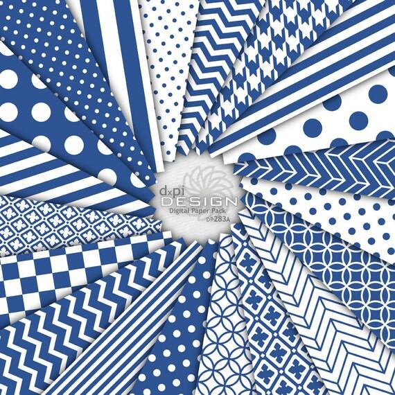 Denim Blue Digital Paper Printable Scrapbook Designs Etsy