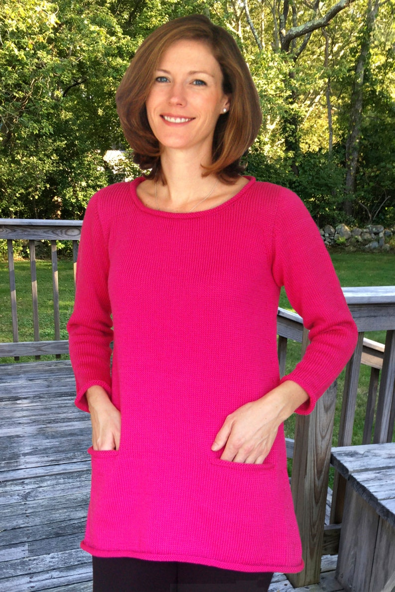 A-Line Tunic to Knit PDF Pattern Instant Download image 0