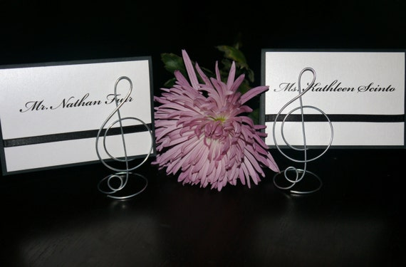 Wire Treble Clef Music Note Place Card Holders For Wedding Etsy