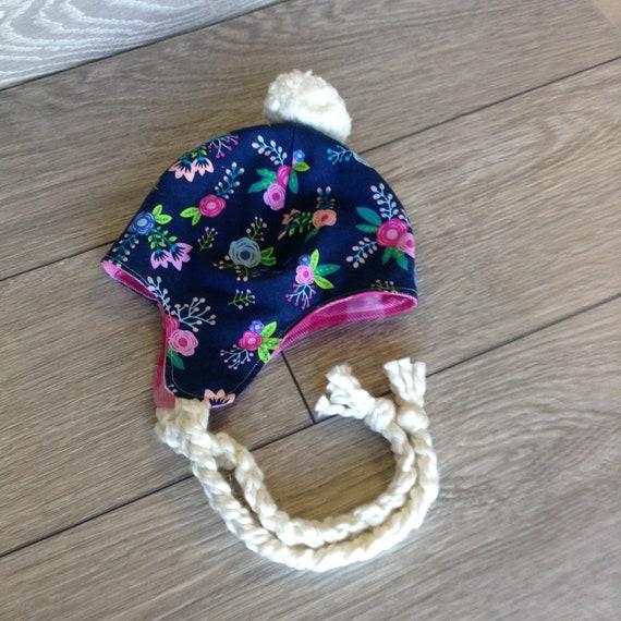 Trapper Hat Girl Trapper Hat Floral Trapper Hat Toddler  cc2b0f8b048