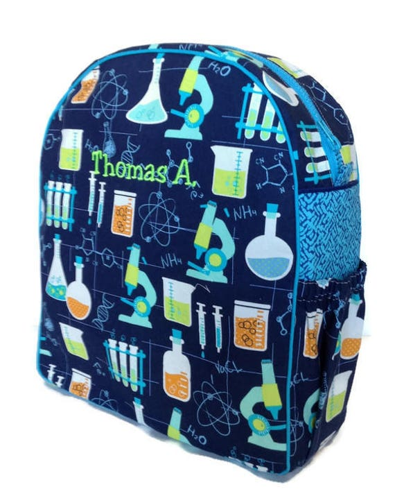 Personalized Toddler Backpack Preschool Backpack Science   Etsy db282b2702