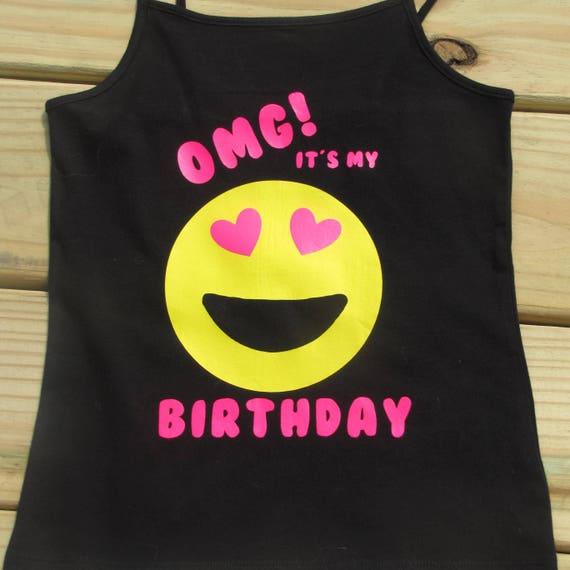 Emoji Girls Birthday Shirt OMG Its My