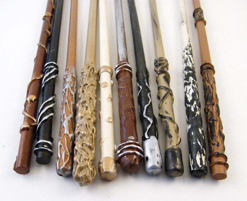 Wand Packages of 1-10 12 Wizard Wands  Magic Wands  Party Favors  Wedding Favors Natural Series