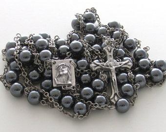 Hemalyke Gemstone Ecce Homo Catholic Handmade Ladder Rosary