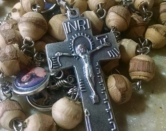 Handmade Stations of the Cross Chaplet Tools of the Passion Crucifix Twig Beads Catholic Devotional