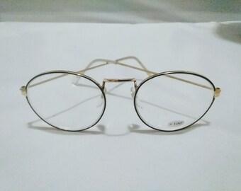 82ce865ad75c SALE Vtg Classic gold wire rim vintage eyeglasses + 100