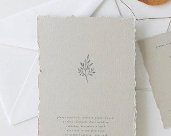 Simple Wedding Invitation Sample - Laila | Letterpress Wedding Invitation | Tree Wedding Invites | Rustic Wedding Invitations