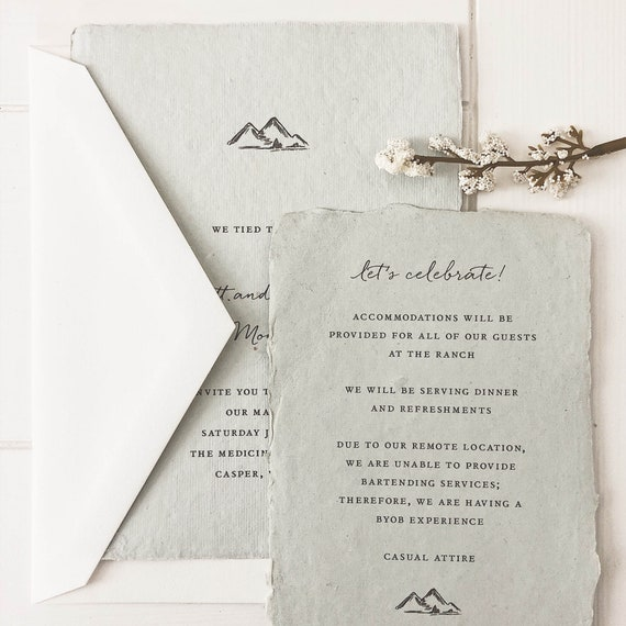 Mountains Wedding Invitation Simple Wedding Invitations Wedding Invites Save The Dates Colorado Wedding Mountains Sample