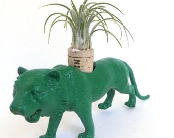 Repurposed Green Tiger Living Art