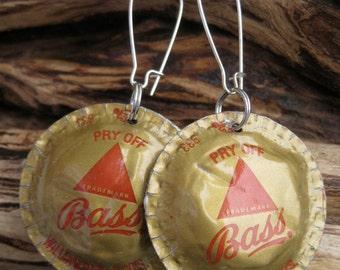 Bass Beer Bottle Cap Earrings