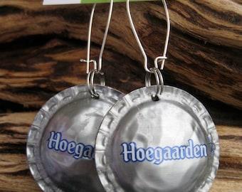 Hoegaarden Beer Bottle Cap Earrings