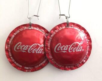 Vintage CocaCola logo Bottle Cap Earrings - Repurpose, Recycle, Reuse  Enjoy!
