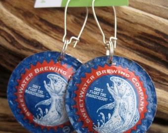 Sweetwater Brewing Company Beer Bottle Cap Earrings