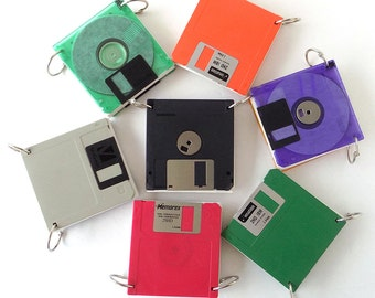 Repurposed FLOPPY DISK Refillable Notepad